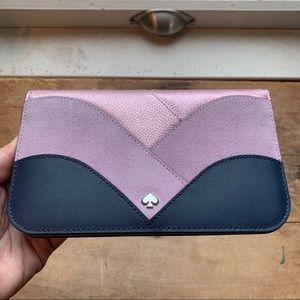 Nadine Patchwork Medium Clutch Wallet in Purple